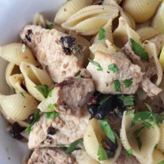 swordfish olive pasta