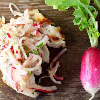 Korean radish salad
