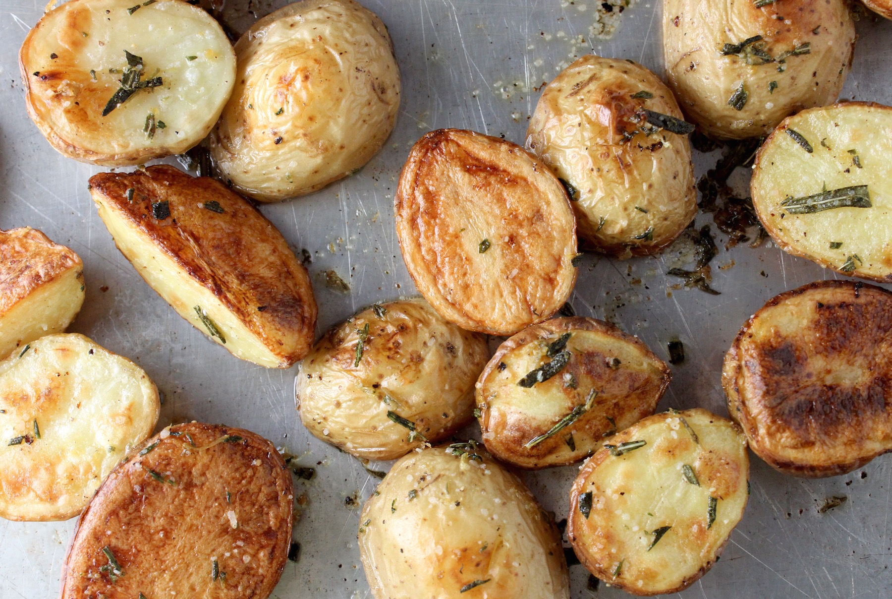 Roasted Citrus and Herb Potatoes