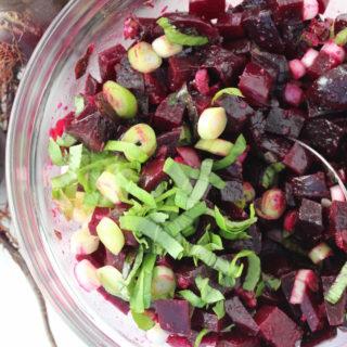 Beet Salad with Basil and Cumin