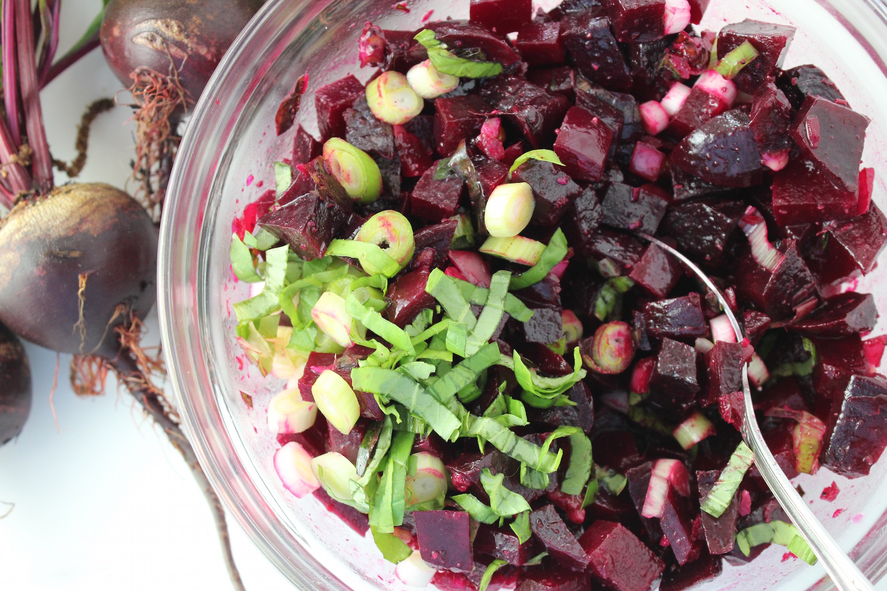 Beet Salad with Basil and Cumin