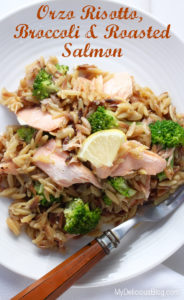 Orzo with Salmon and Broccoli
