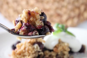 Blueberry Crisp Spoonful