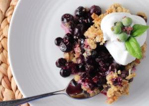 Blueberry Basil Crisp