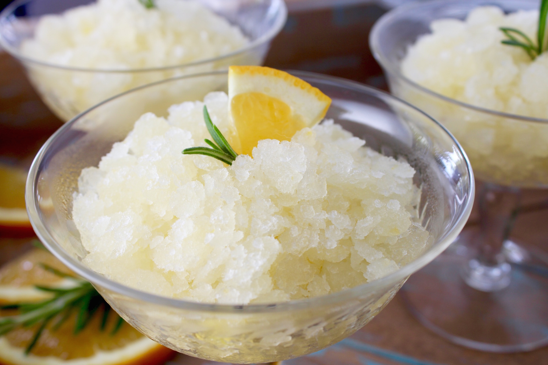 Lemon Orange Rosemary Granita