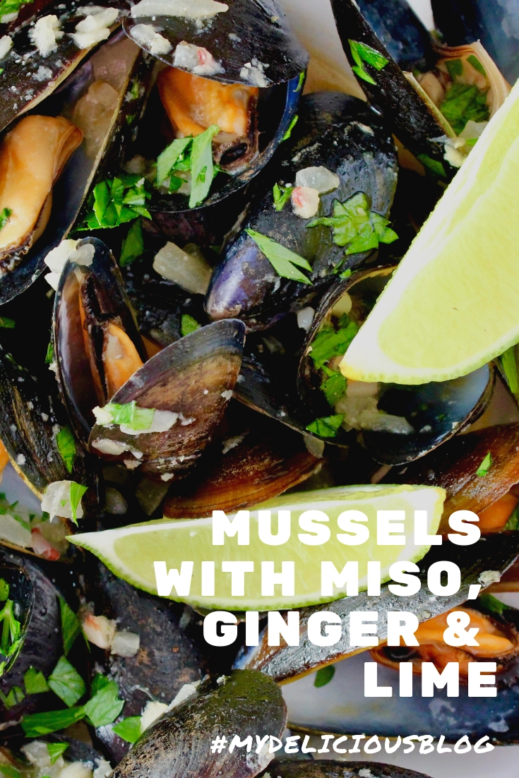 Mussels with Ginger Lime and Miso