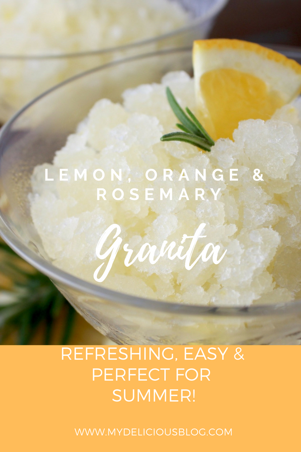 Lemon Rosemary Orange Granita