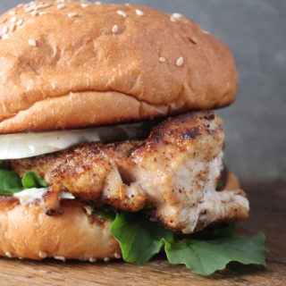 Grouper Sandwich Blackened