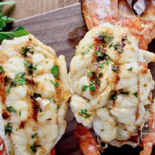 Grilled Florida Lobster with Cajun Butter