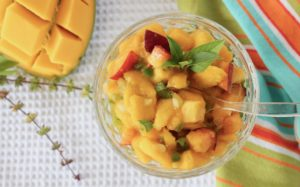 Mango Peach Basil Salsa