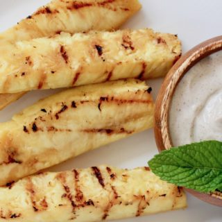 Grilled Pineapple with Cinnamon Yogurt Sauce