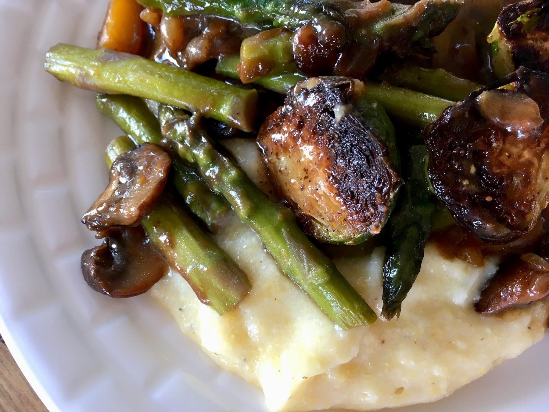 Cheesy Polenta with Roasted Veggies