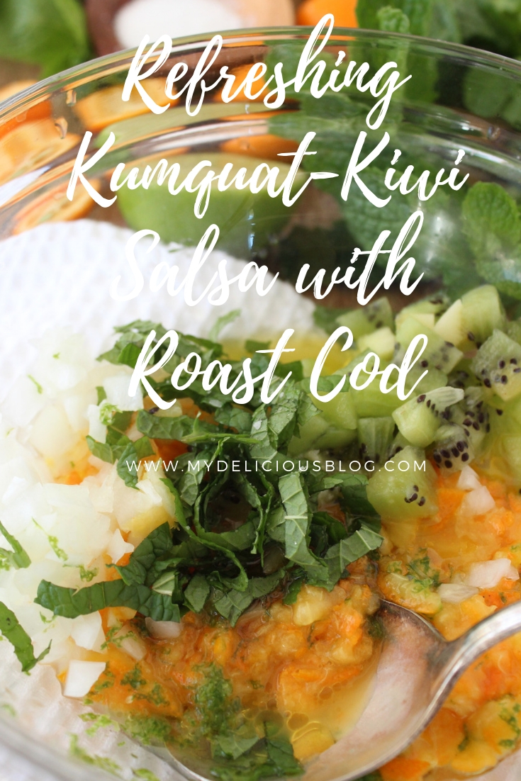 Kumquat Kiwi Salsa for Pinterest