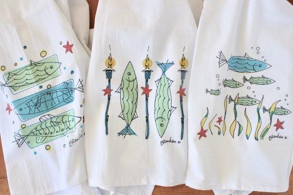 Fish Flour Sack Towels