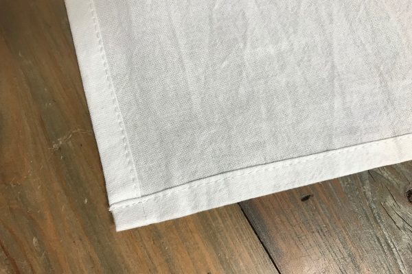 Flour sack sewn edges