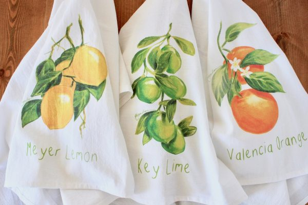 Citrus Flour Sack Towels
