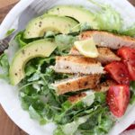 Wahoo salad with green goddess